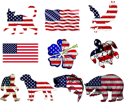 Amazon Com Gtotd American Flag Stickers 10 Pcs Large Size Bumper Sticker Vinyl For Window Hard Hat Toolbox Laptop Luggage Car Bike Bicycle Helmet Stickers Kitchen Dining