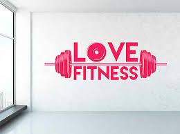 Love Fitness Weight Bar Gym Motivation Quote Window Wall Decal Sticker Art Home Garden Decals Stickers Vinyl Art Home Decor