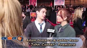 Debby Ryan & Adam DiMarco 'John Carter' Premiere Interview - YouTube