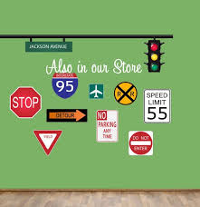 Road Signs Wall Decal Reusable Wall Decal Street Signs Wall Signs Wall Decals Road Signs