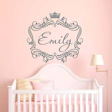 Framed Girls Name Decal Name Wall Stickers Kids Room Wall Decals Custom Decal Stickers
