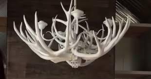 diy deer antler chandelier