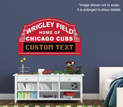 Chicago Cubs Custom Marquee Vinyl Wall Decal Room Decor Personalized Wrigley Field Sign Baseball Cubs Room Custom Marquee Bars For Home