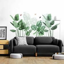 Tropical Flower Leaves Wall Art Border Stickers Kid Nursery Living Room For Sale Online Ebay