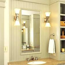 bathroom lights on side of mirror