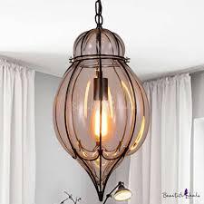 lighting glass teardrop pendant light