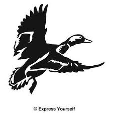 Duck Silhouette Silhouette Duck Flying Hunting Decal Sticker Ebay Pic 23 Duck Silhouette Hunting Decal Silhouette Stencil