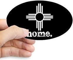 Amazon Com Cafepress New Mexico Zia Symbol Black Oval Bumper Sticker Euro Oval Car Decal Home Kitchen