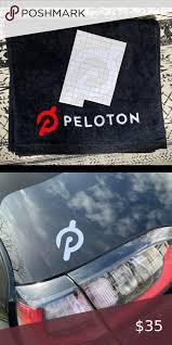 Peloton Black Core Towel Car Decal White In 2020 Peloton Black Towels Biking Workout