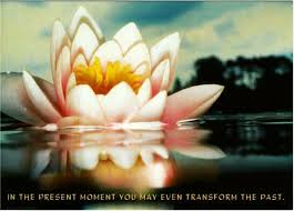 the present moment thich nhat hanh buddhism quote postcard