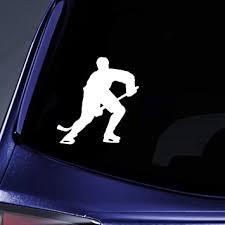 Amazon Com Decalgeek Hockey Skating Sport Car Truck Notebook Vinyl Decal Sticker Vinyl Color White Automotive