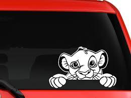 Simba Peeking The Lion King Logo Vinyl Sticker Decal Car Truck Windon Mymonkeysticker Com