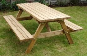 wooden britannia 6 seater picnic table