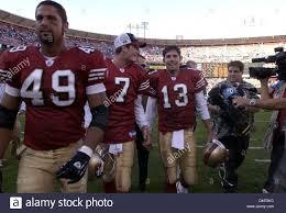 San Francisco 49ers Aaron Walker (49), Ken Dorsey and Tim Rattay ...