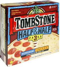 half cheese pizza