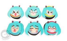 Chibi Hatsune Miku Cupcakes For A Celebration With 6 Adorable