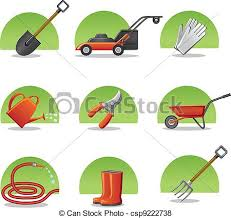 web icons garden tools