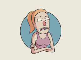 Rick and Morty - Summer Smith by Maurizio Carlini on Dribbble