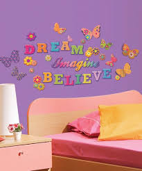 Lot 26 Studio Glitterpuff Dream Imagine Believe Wall Decal Set Best Price And Reviews Zulily