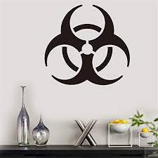 Amazon Com Vinyl Wall Decal Wall Stickers Art Decor Peel And Stick Mural Removable Decals Biohazard Symbol For Bedroom Living Room Home Kitchen