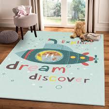 Cute Cartoon Dream Discover Carpet And Rug Living Room Kids Room Decor Area Rugs Bedroom Children Play Tent Non Slip Floor Mats Carpet Aliexpress