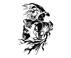 Grim Reaper Skull Girl Die Cut Vinyl Decal Sticker Decals City