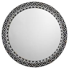 evelyn round mirror in mother of pearl