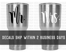 Mr Mrs Vinyl Decals Etsy
