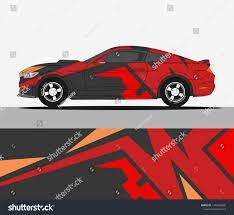Racing Car Decals Sport Vehicle Vinyl Stock Vector Royalty Free 1370566805