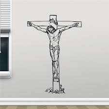 Jesus Christ On Cross Wall Decal Crucifixion Christian Religion Vinyl Sticker Church Wall Decor Wall Sticker X359 Wall Sticker Decorative Wall Stickersjesus Christ Aliexpress