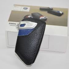 bmw genuine key holder fob leather case