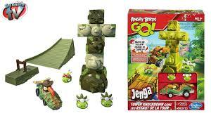 Angry Birds GO! Jenga Tower Knockdown Toy Review, Hasbro - YouTube