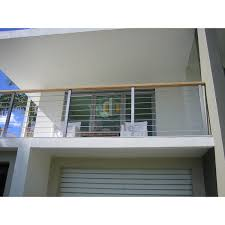 China American House Design Balcony Fence Carbon Steel Post Railing With Wood Handrail China Steel Railing Solid Rod Railing