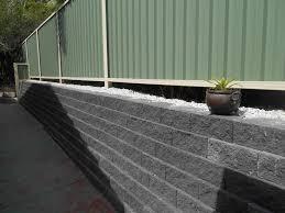 Australian Retaining Walls Flush Face Garden Wall Blocks Colorbond Fence Labrador Gold Coast Qld Australian Retaining Walls