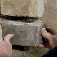 how to install stone veneer rcp block