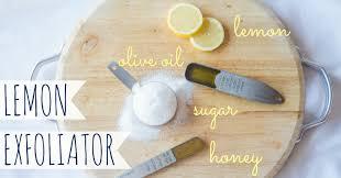 lemons exfoliate homemade lemon