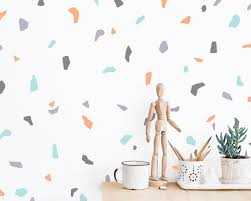 Terrazzo Pattern Wall Decals Abstract Wall Decor Modern Wall Art Wall Decal Set Unique Home Decor Gift For Home 90s Style Decor