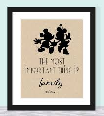 typographic print walt disney quote most important thing is