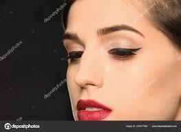 attractive young woman elegant makeup