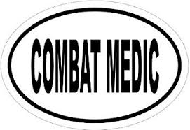 Amazon Com Combat Medic Vinyl Car Decal White 5 By 5 Inches Automotive