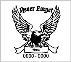 Memorial Eagle Decal Sticker Cut Vinyl Car Truck Jeep Feather Etsy