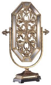 minka lavery poly iron mirror tuscan