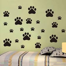 22pcs Set Removable Lovely Cat Dog Paw Wall Vinyl Decal Stickers Ideal For Home Cars Fridges Stickers Decal Sticker Vinyl Decals Stickerswall Vinyl Aliexpress