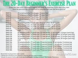exercise plan by georgette