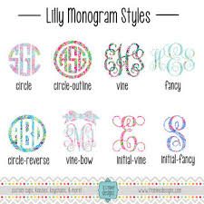 Lilly Pulitzer Monogram Decal Or Sticker From It S Mine Designs