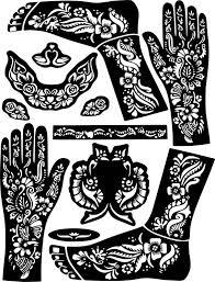 Hand Feet Arabic Henna Temporary Tattoo Glitter Mehndi Design Etsy