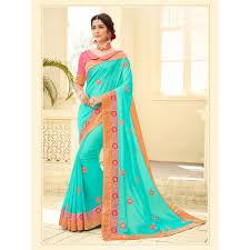 green color two tone satin silk saree