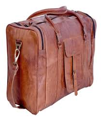 ph050 vintage leather duffle bag
