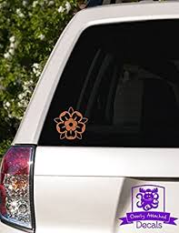 Amazon Com Overly Attached Decals Family Crest Rose Vinyl Car Decal 5 Copper Metallic Automotive