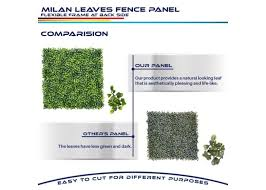 20 X 20 Milan Leaves 6pcs Ivy Leaf Decorative Fence Screen Windscreen4less